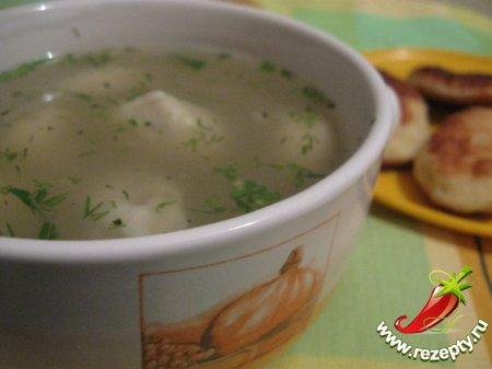 Суп с картофельными ушками
