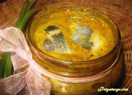 Селёдки в горчичном соусе