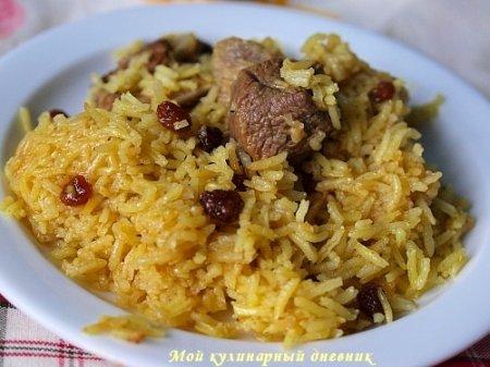 Рис с бараниной и карри