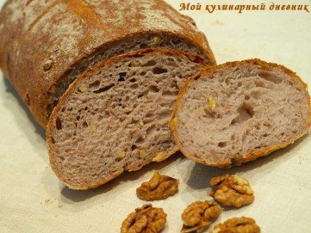 Картофельный хлеб с грецкими орехами