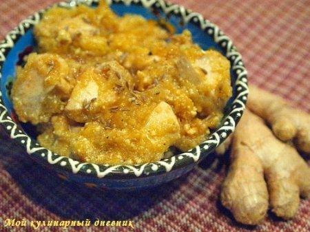 Куриное карри в яблочно-йогуртовом соусе