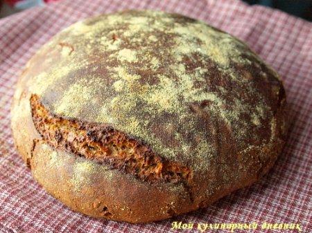 Немецкий фермерский ржаной хлеб с пряностями (на закваске)