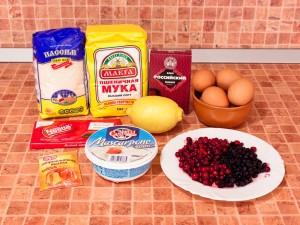 Маффины с маскарпоне и ягодами