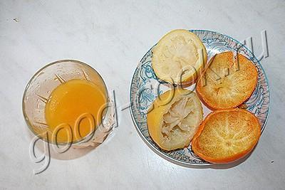 Цитрусовый пирог с орехами и заварной помадкой