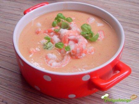 Суп с сёмгой и креветками