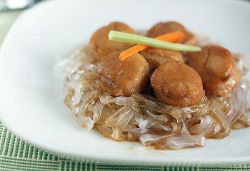 Морские гребешки под соевым соусом