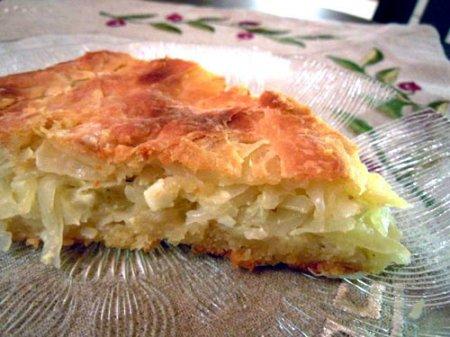 Капустный пирог (из дрожжевого-заворного теста)