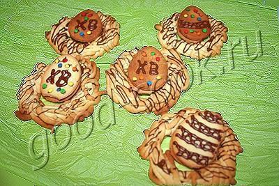 Печенье «Пасхальные гнёзда»