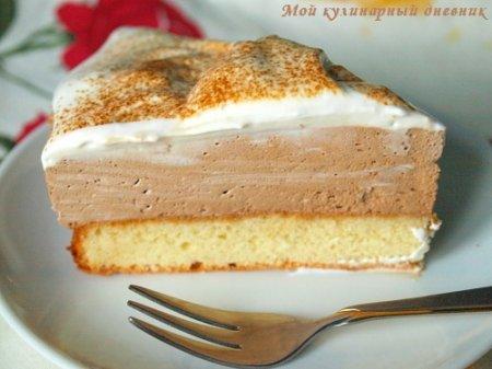 Бисквитный торт с кофейным муссом