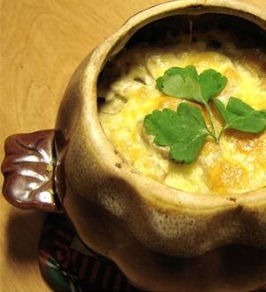 Картофель в горшочках с грибами