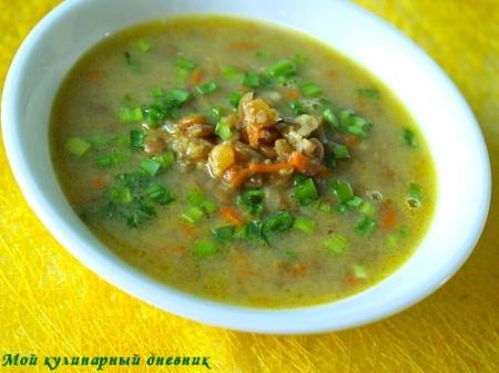 Чечевичный суп с карри и нутом