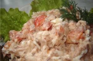 Салат из отварного путассу «Гурман»
