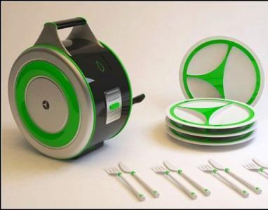 Придумали посудомоечную мини-машину для путешественников