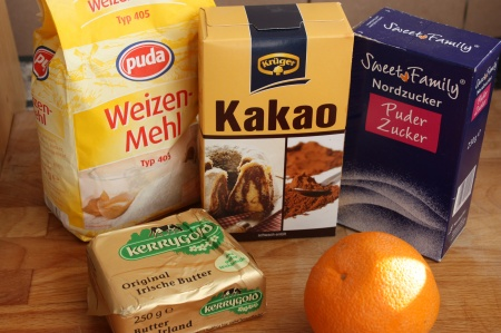 Апельсино-шоколадные печеньки