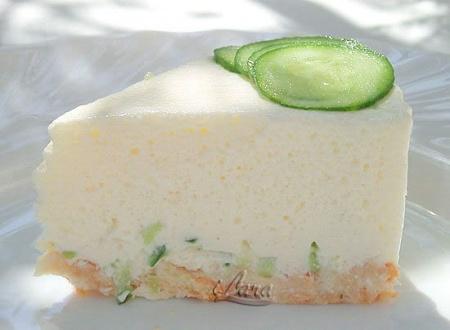 Сырный террин с огурцами и мятой