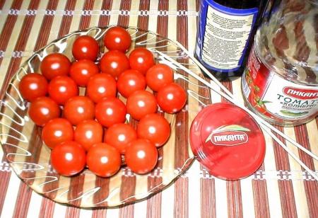 Консервированные свежие помидоры