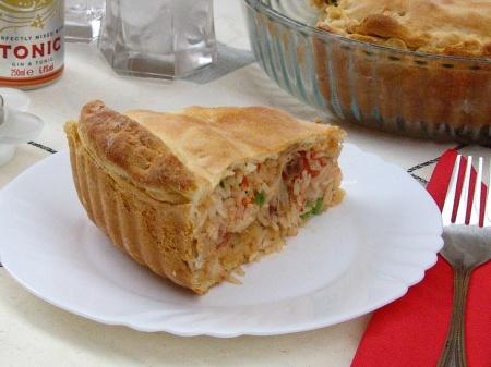 Мексиканский пирог Arroz con Pollo (рис и курица)