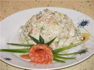 Салат из риса и лосося «Дальневосточный»