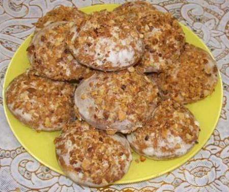 Печенье с апельсином и грецким орехом