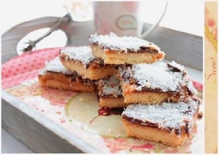 Песочное печенье со сгущёнкой и шоколадом