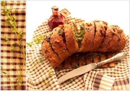 Хлеб с пикантной начинкой