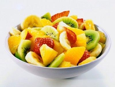 Салат фруктовый с авокадо