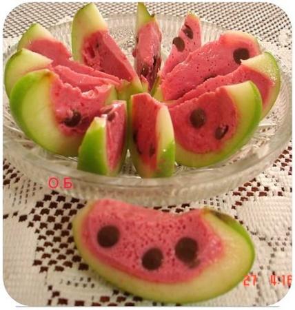 Десерт «Арбузные дольки»