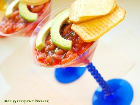Мексиканский коктейль из креветок (Coctel de Camarones)