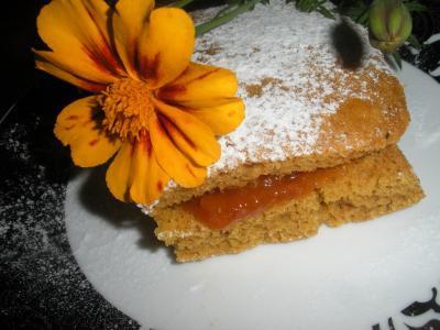 Тыквенно-полезное пирожное