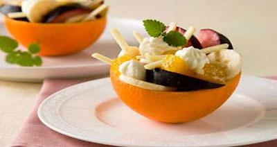 Апельсины фаршированные фруктами