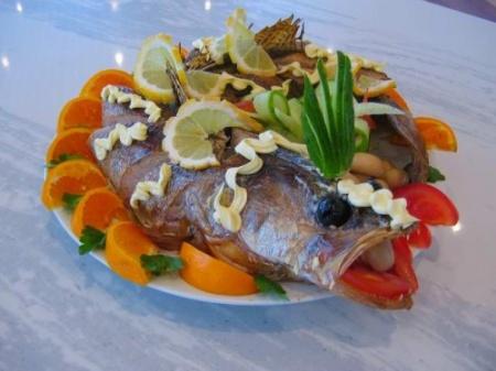 Запечённая рыба с лимоном и апельсином
