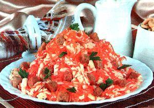 Салат Кириешки с сыром