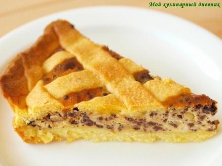 Тарт с рикоттой и шоколадом