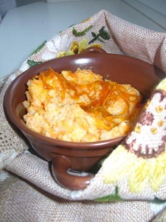 Рисовая каша с тыквой, курагой и цитрусовым конфитюром
