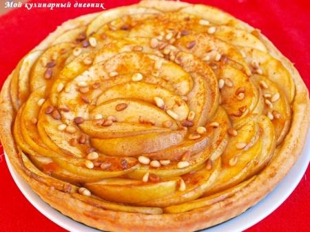 Яблочная тарта с ванильным кремом