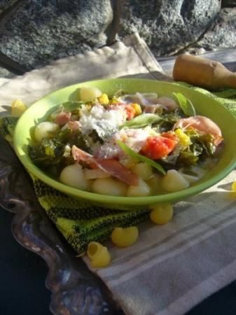 Овощной суп с пастой