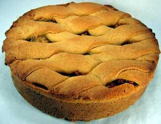 Яблочный торт с корицей