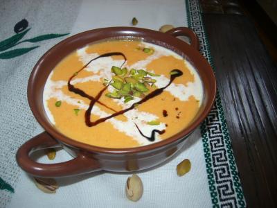 Тыквенный крем-суп с фисташками