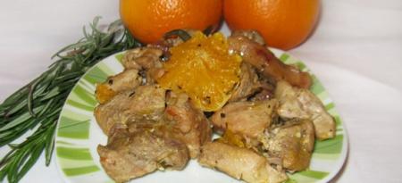 Тушеная свинина с апельсинами