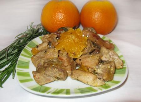 Утка тушеная с апельсинами рецепт