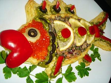 «Золотая рыбка» из пюре