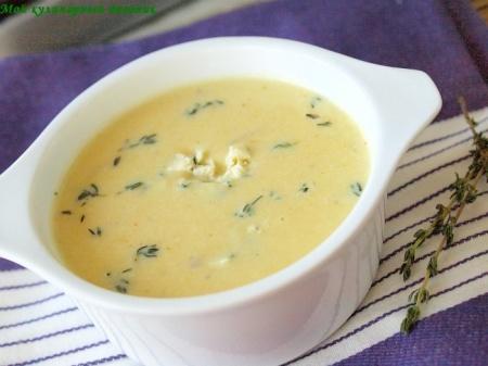 Картофельный крем-суп с голубым сыром
