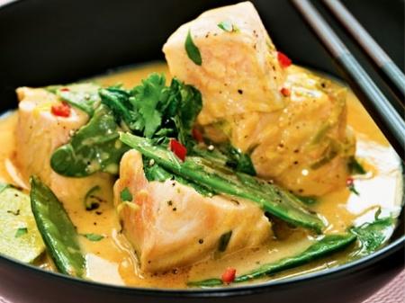 Лосось в тайском соусе