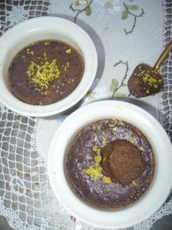 Запеченный шоколадный крем