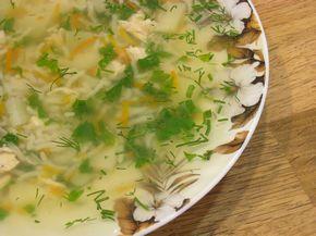 Рисовый суп с курицей и имбирем