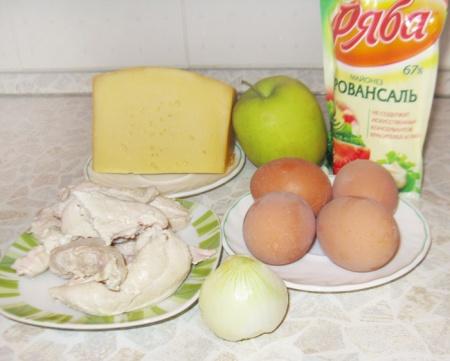 Салат «Белая Береза» из куриного филе