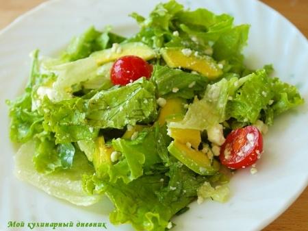 Салатный микс с авокадо и фетой