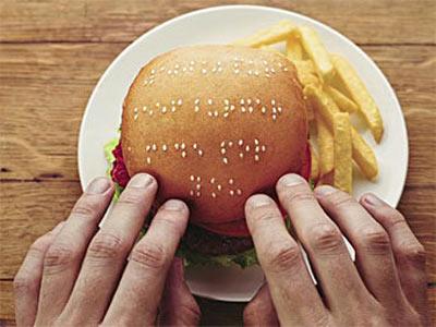 В ЮАР создали бургеры для слепых