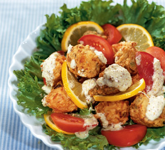Салат с фрикадельками по-антильски