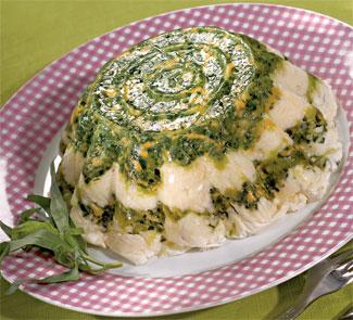 Террин из сыра со шпинатом